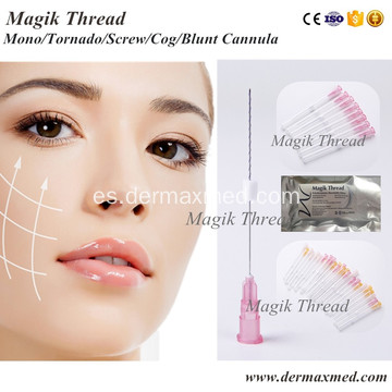 Medical Face Threading antes y después
